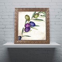 Trademark Fine Art Olive Branch III Ornate Framed Wall Art