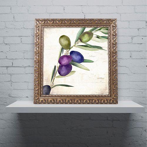 Trademark Fine Art Olive Branch III Ornate Framed Wall Art