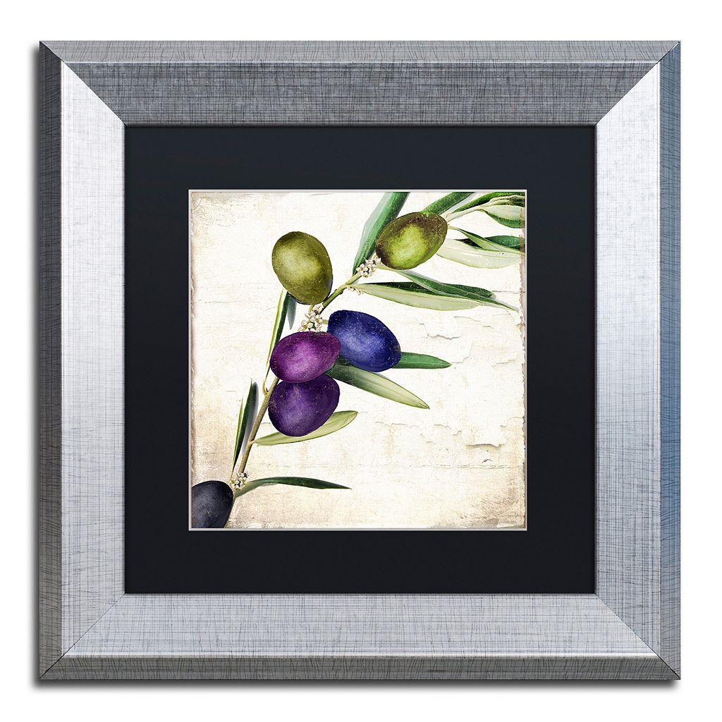 Trademark Fine Art Olive Branch III Framed Wall Art