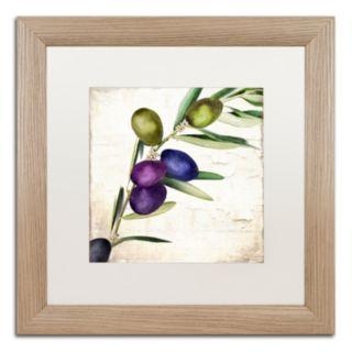 Trademark Fine Art Olive Branch III Distressed Framed Wall Art
