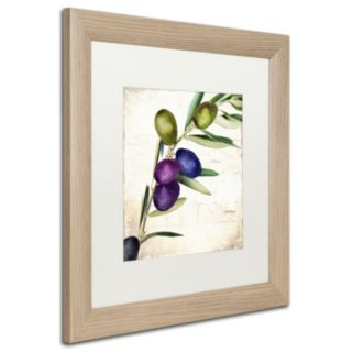 Trademark Fine Art Olive Branch III Distressed Framed Wall Art