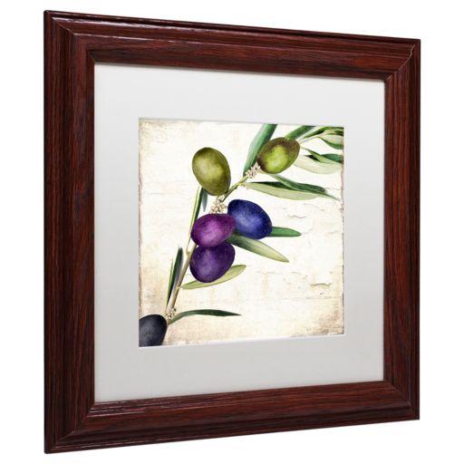 Trademark Fine Art Olive Branch III Traditional Framed Wall Art