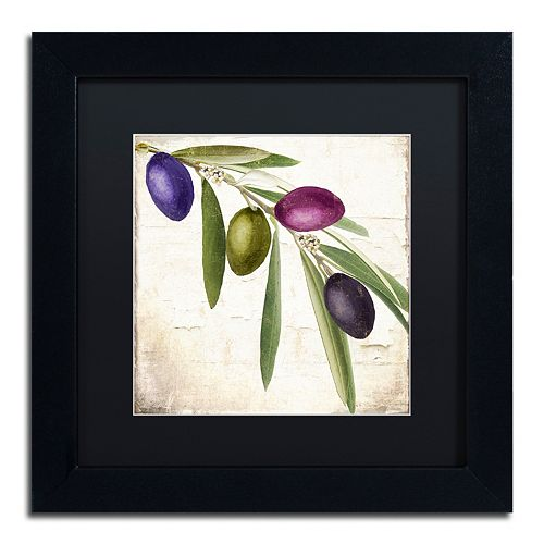 Trademark Fine Art Olive Branch IV Black Framed Wall Art