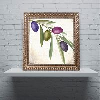 Trademark Fine Art Olive Branch IV Ornate Framed Wall Art