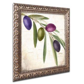 Trademark Fine Art Olive Branch IV Ornate Framed Wall Art