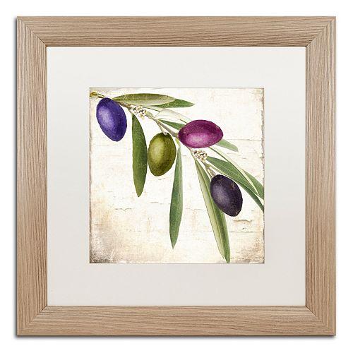 Trademark Fine Art Olive Branch IV Distressed Framed Wall Art