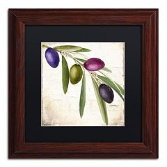 Trademark Fine Art Olive Branch IV Traditional Framed Wall Art