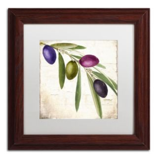 Trademark Fine Art Olive Branch IV Traditional Framed Wall Art