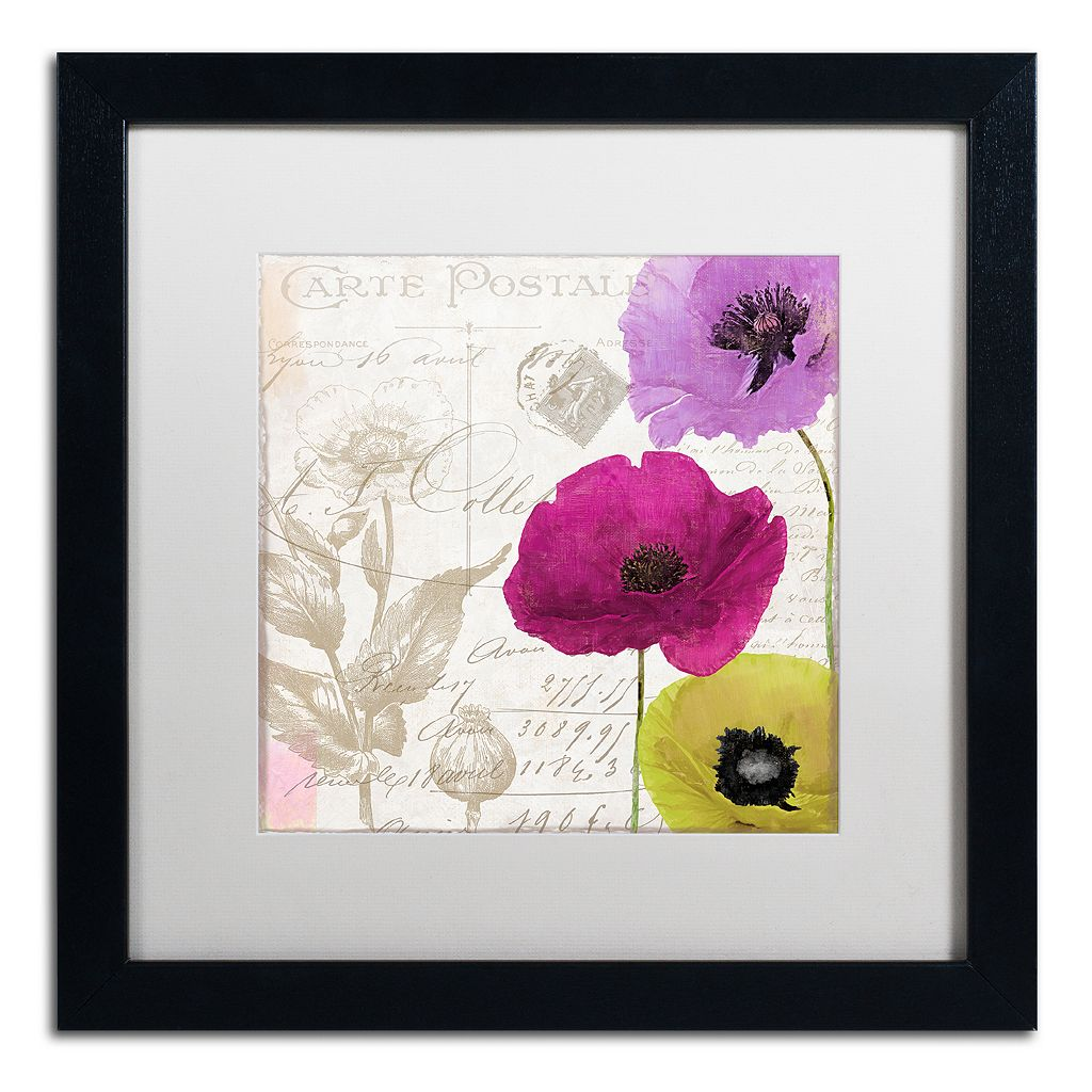 Trademark Fine Art Love Notes I Black Framed Wall Art