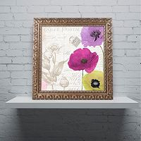 Trademark Fine Art Love Notes I Ornate Framed Wall Art