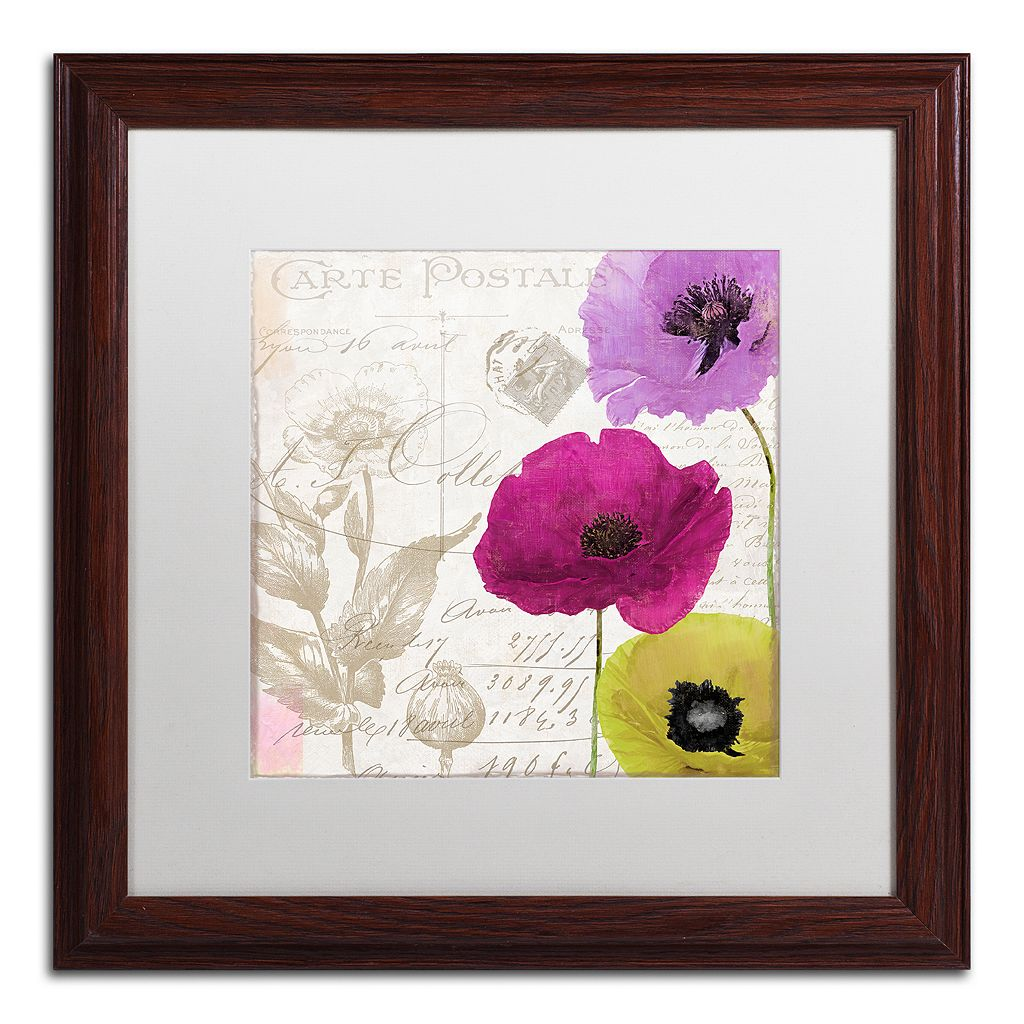 Trademark Fine Art Love Notes I Traditional Framed Wall Art