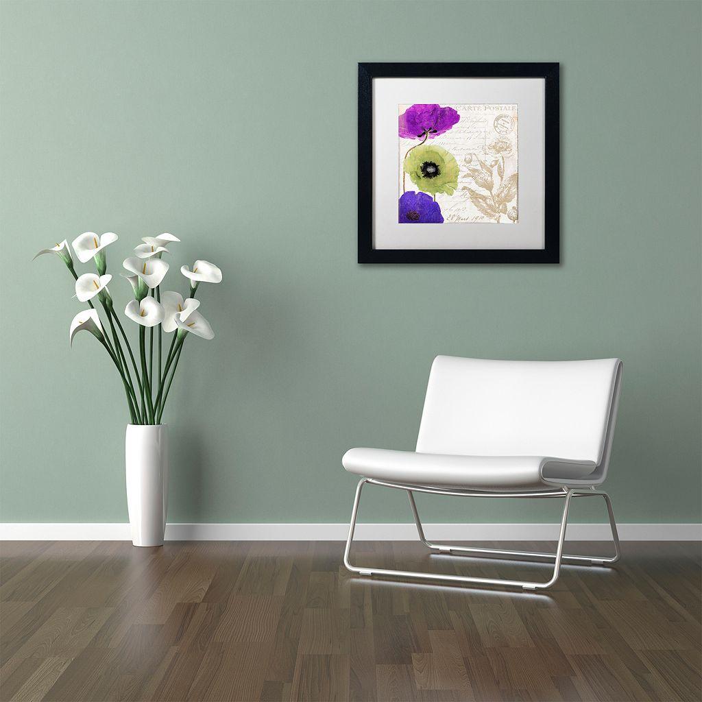 Trademark Fine Art Love Notes II Black Framed Wall Art