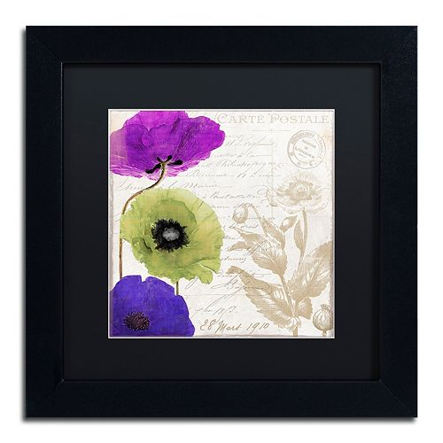 Trademark Fine Art Love Notes II Black Framed Wall Art
