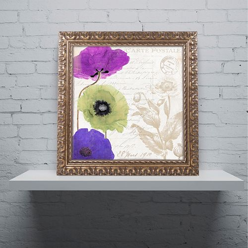 Trademark Fine Art Love Notes II Ornate Framed Wall Art