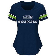 Plus Size Majestic Seattle Seahawks Jersey Tee