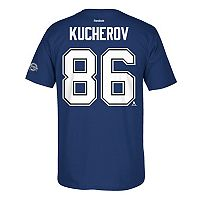 Men's Reebok Tampa Bay Lightning Nikita Kucherov 2017 Stanley Cup Playoffs Player Tee