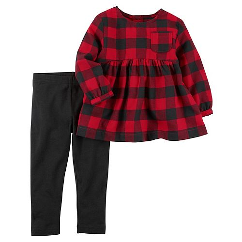 4436ca4e25477 Toddler Girl Carter's Buffalo Check Tunic Top & Leggings Set