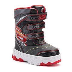Disney / Pixar Cars Lightning McQueen Toddler Boys' Light-Up Winter Boots