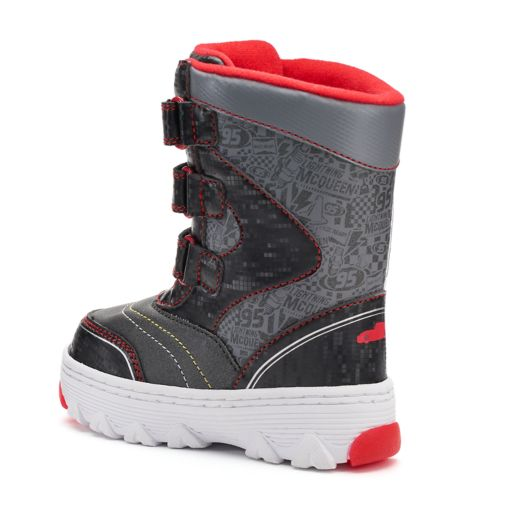 Disney / Pixar Cars Lightning McQueen Toddler Boys' Light-Up Winter Boots