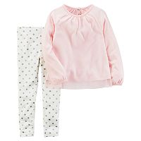 Baby Girl Carter's Tulle Top & Star Leggings Set