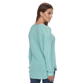 Petite SONOMA Goods for Life Pointelle Crewneck Sweater