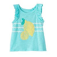 Baby Girl Jumping Beans® Print Slubbed Tank Top