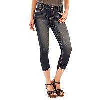 Juniors' Wallflower Luscious Curvy Frayed Hem Jean Capris