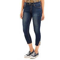 Juniors' Wallflower Legendary Side Slit Jean Capris