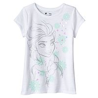 Disney's Frozen Girls 4-7 Elsa Glitter Tee by Jumping Beans®