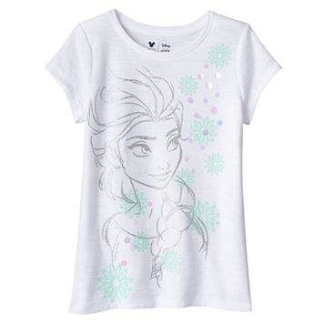 Disney's Frozen Girls 4-7 Elsa Glitter Tee by Jumping Beans®