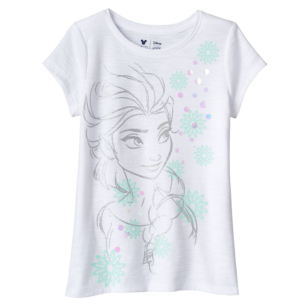 Disney's Frozen Toddler Girl Elsa Glitter Tee by Jumping Beans®