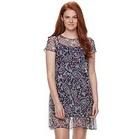 Juniors' Love, Fire Print Mesh Dress