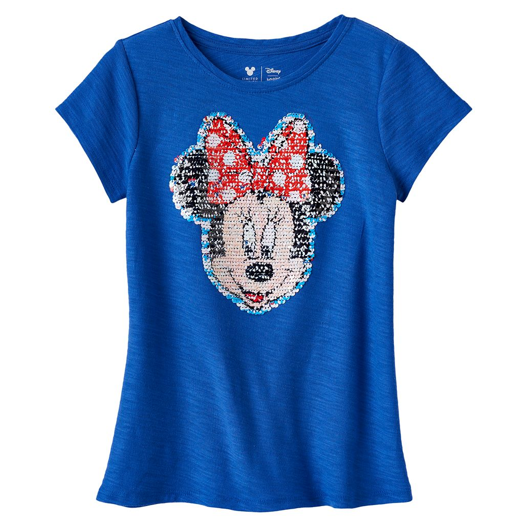 Disney's Minnie Mouse Girls 4-7 Flippy Screen Sequin Tee by Jumping Beans®
