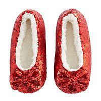 Girls 4-16 Berber Fleece-Lined Sequin Slippers