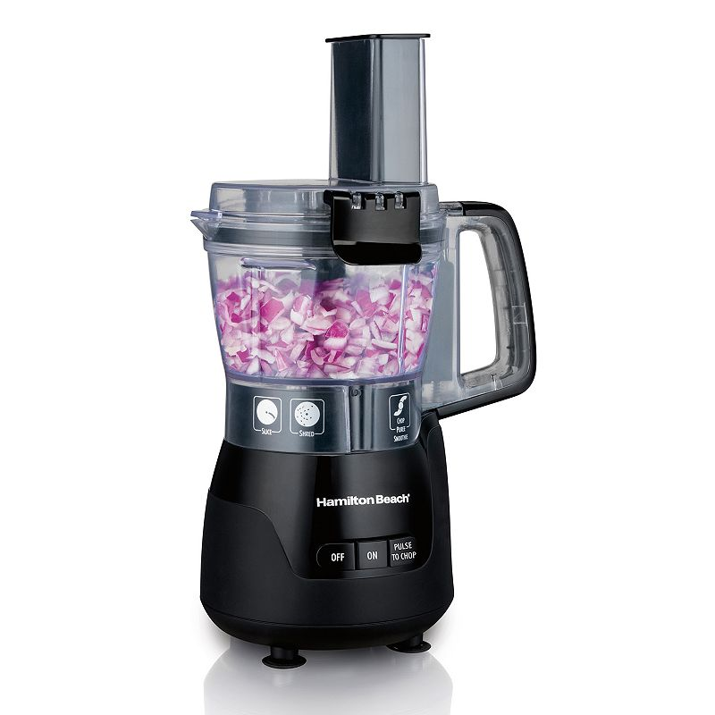 Hamilton Beach 4-Cup Mini Food Processor, Black, 4 CUP