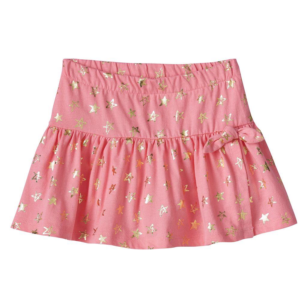Toddler Girl Jumping Beans® Foiled Star Skort