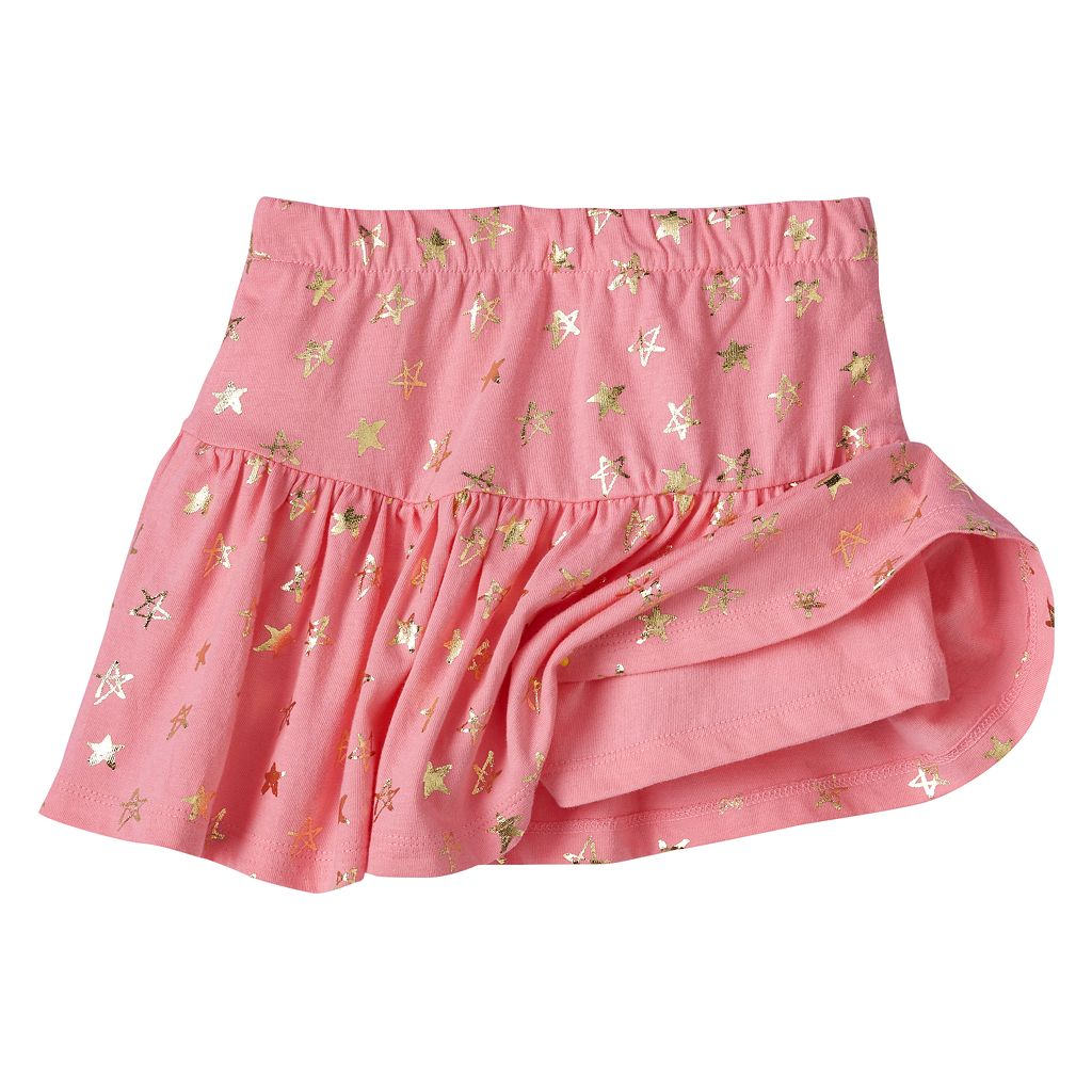 Toddler Girl Jumping Beans® Foiled Star Skort