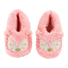 Girls 4-16 Faux-Fur Fox Moccasin Slippers