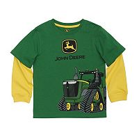 Boys 4-7x John Deere Tractor Mock-Layer Wrap-Around Graphic Tee