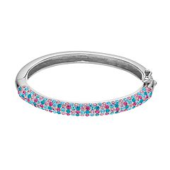 Charming Girl Kids' Sterling Silver Hinged Bangle Bracelet
