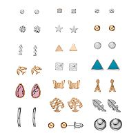 Mudd® Eiffel Tower, Tree & Bird Nickel Free Stud Earring Set