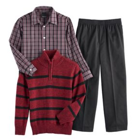 Boys 4-7 Van Heusen Striped Sweater, Shirt & Pants Set