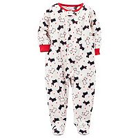 Toddler Girl Carter's Scottie Dog Fleece Footed Pajamas