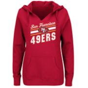 Plus Size Majestic San Francisco 49ers Notched Hoodie