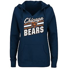Plus Size Majestic Chicago Bears Notched Hoodie