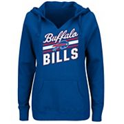 Plus Size Majestic Buffalo Bills Notched Hoodie