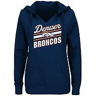 Plus Size Majestic Denver Broncos Notched Hoodie