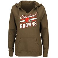 Plus Size Majestic Cleveland Browns Notched Hoodie