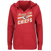 Plus Size Majestic Kansas City Chiefs Notched Hoodie