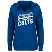 Plus Size Majestic Indianapolis Colts Notched Hoodie